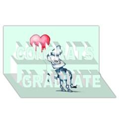 Tin Man Congrats Graduate 3D Greeting Card (8x4)