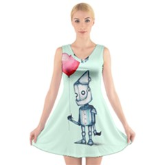 Tin Man V-Neck Sleeveless Skater Dress