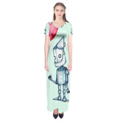 Tin Man Short Sleeve Maxi Dress