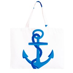 blue anchor Large Tote Bag