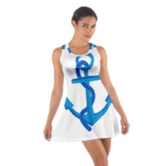 blue anchor Racerback Dresses