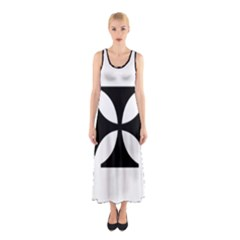 Cross Sleeveless Maxi Dress