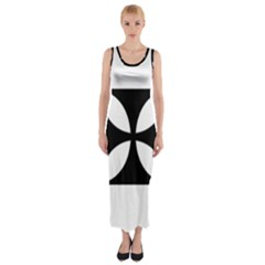 Cross Fitted Maxi Dress