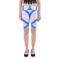 Blue Peace Yoga Cropped Leggings