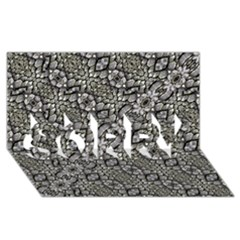 Silver Oriental Ornate  SORRY 3D Greeting Card (8x4)