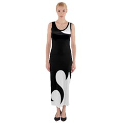 Flames Fitted Maxi Dress