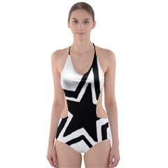Double Star Cut-Out One Piece Swimsuit
