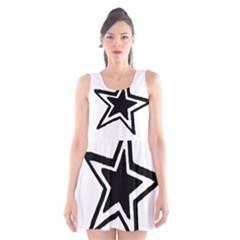 Double Star Scoop Neck Skater Dress