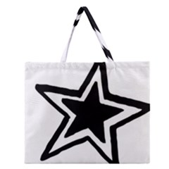 Double Star Zipper Large Tote Bag
