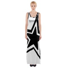 Double Star Maxi Thigh Split Dress
