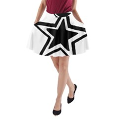 Double Star A-Line Pocket Skirt