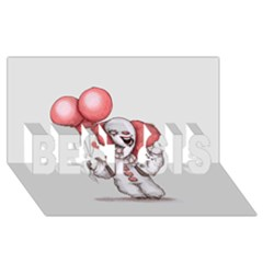They All Float BEST SIS 3D Greeting Card (8x4)