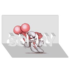 They All Float SORRY 3D Greeting Card (8x4)