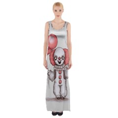 They All Float Maxi Thigh Split Dress