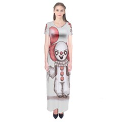 They All Float Short Sleeve Maxi Dress