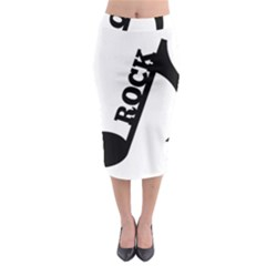 Rock Midi Pencil Skirt
