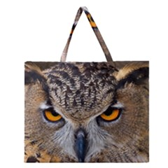 Great Horned Owl 1 Zipper Large Tote Bag
