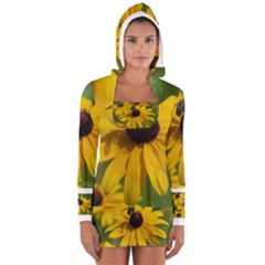 Black eyed Susan Women s Long Sleeve Hooded T-shirt