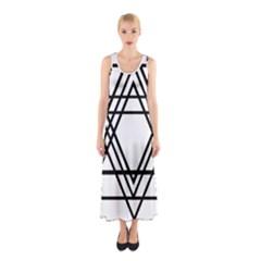 Triangles Sleeveless Maxi Dress