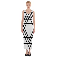 Triangles Fitted Maxi Dress