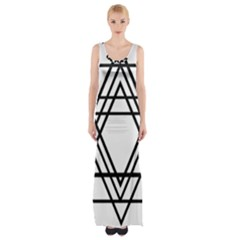 Triangles Maxi Thigh Split Dress