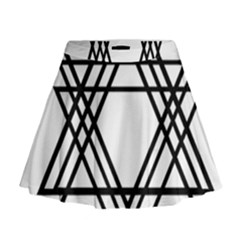 Triangles Mini Flare Skirt