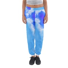Powder Blue And Indigo Sky Pillow Women s Jogger Sweatpants