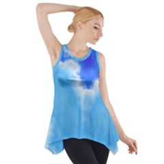 Powder Blue And Indigo Sky Pillow Side Drop Tank Tunic
