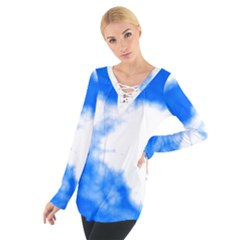 Blue Cloud Women s Tie Up Tee