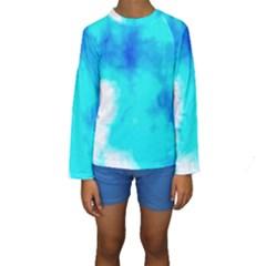Turquoise Sky  Kid s Long Sleeve Swimwear
