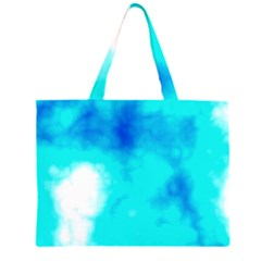 Turquoise Sky  Zipper Large Tote Bag