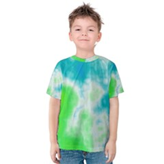 Turquoise And Green Clouds Kid s Cotton Tee