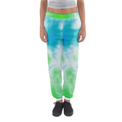 Turquoise And Green Clouds Women s Jogger Sweatpants