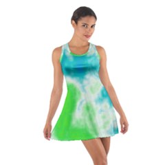 Turquoise And Green Clouds Racerback Dresses