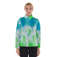Turquoise And Green Clouds Winterwear
