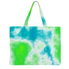 Calming Sky Zipper Large Tote Bag
