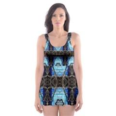Lit0211003013  Skater Dress Swimsuit