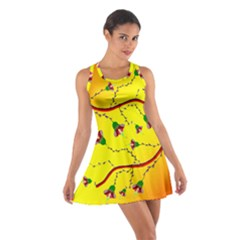 Rainbow Tropical Flower Racerback Dresses