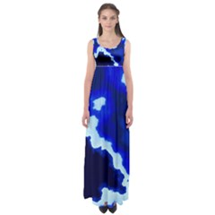 Blues Empire Waist Maxi Dress