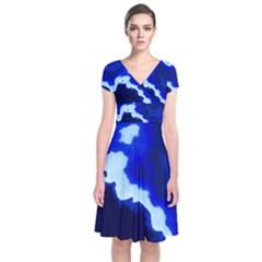 Blues Wrap Dress