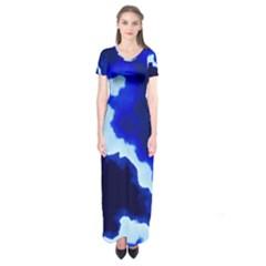 Blues Short Sleeve Maxi Dress