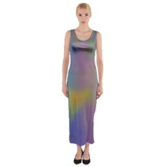 Mystic Sky Fitted Maxi Dress