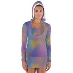 Mystic Sky Women s Long Sleeve Hooded T-shirt