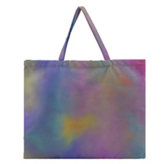 Mystic Sky Zipper Large Tote Bag