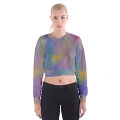 Mystic Sky Women s Cropped Sweatshirt