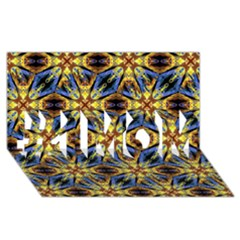 Vibrant Medieval Check #1 MOM 3D Greeting Cards (8x4)