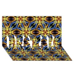 Vibrant Medieval Check BEST SIS 3D Greeting Card (8x4)