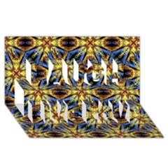 Vibrant Medieval Check Laugh Live Love 3D Greeting Card (8x4)