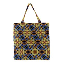 Vibrant Medieval Check Grocery Tote Bag