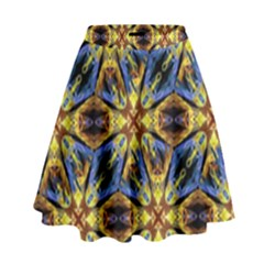 Vibrant Medieval Check High Waist Skirt